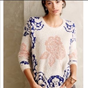 Anthropologie La Fee Verte soft fuzzy sweater sz s